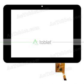 MF-351-080F FPC Digitizer Glass Touch Screen Replacement for 8 Inch MID Tablet PC