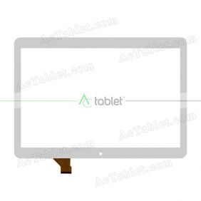 GT10YK132 V1.0 FHX Digitizer Glass Touch Screen Replacement for 10.1 Inch MID Tablet PC