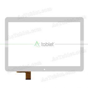 DH-1097A3-PG-FPC310-V1.0 Digitizer Glass Touch Screen Replacement for 10.6 Inch MID Tablet PC
