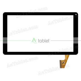 QS-102(P+G) Digitizer Glass Touch Screen Replacement for 10.1 Inch MID Tablet PC
