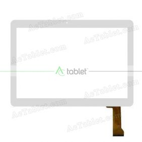 MJK-0720 FPC Digitizer Glass Touch Screen Replacement for 10.1 Inch MID Tablet PC