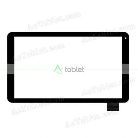 Digitizer Touch Screen Replacement for LexiTab Fluo XL Premium Edition MFC510FR1 10.1 Inch Tablet PC