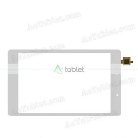 DXP2J1-1025-080B-V2-FPC Digitizer Glass Touch Screen Replacement for 8 Inch MID Tablet PC