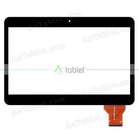Digitizer Touch Screen Replacement for CMX Aquila 101-1008 2X 3G MTK8312 10.1 Inch Tablet PC