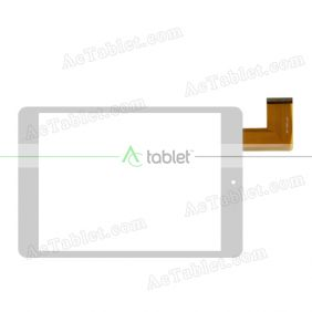 YDT1293-A0 Digitizer Glass Touch Screen Replacement for 7.9 Inch MID Tablet PC