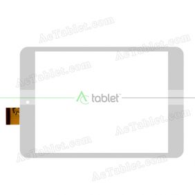 YCF0407-C Digitizer Glass Touch Screen Replacement for 8 Inch MID Tablet PC