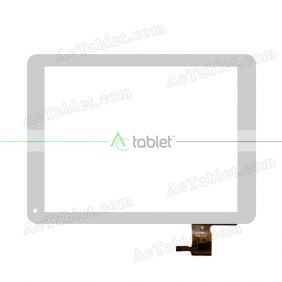 HY TPC51105 2013-11-07 Digitizer Glass Touch Screen Replacement for 9.7 Inch MID Tablet PC
