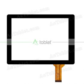 657-DR8-036C1 Digitizer Glass Touch Screen Replacement for 8 Inch MID Tablet PC