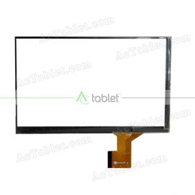 ZK-6163 FPC Digitizer Glass Touch Screen Replacement for 7 Inch MID Tablet PC