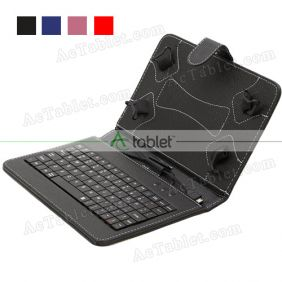 Micro USB Keyboard Leather Case for Aoson M751S A33 Quad Core 7 Inc Tablet PC