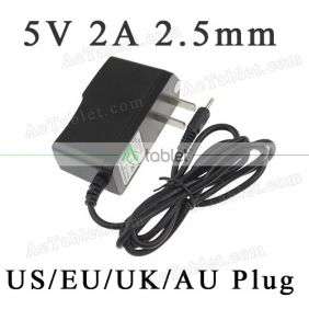 5V Power Supply Charger for Envizen Digital V917G EVO A23 Dual Core 9 Inch Tablet PC