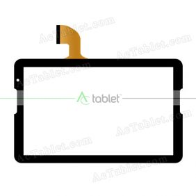 Digitizer Touch Screen Replacement for Polaroid MIDS145PXE50.112 10.6 Inch Tablet PC