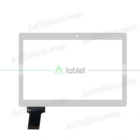 C168237C1-DRFPC283T-V1.0 Digitizer Glass Touch Screen Replacement for 10.1 Inch MID Tablet PC