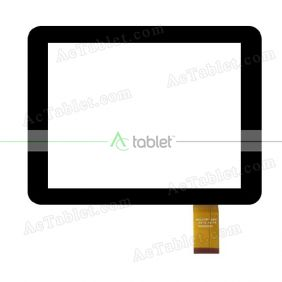 MGLCTP-254 KSD8004 Digitizer Glass Touch Screen Replacement for 8 Inch MID Tablet PC