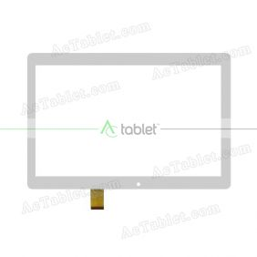WJ1368-FPC V1.0 Digitizer Glass Touch Screen Replacement for 10.1 Inch MID Tablet PC