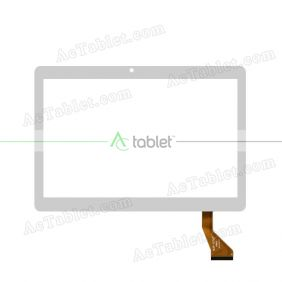 MJK-0722 FPC Digitizer Glass Touch Screen Replacement for 10.1 Inch MID Tablet PC