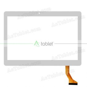 HNFX-10041 V1.0 Digitizer Glass Touch Screen Replacement for 10.1 Inch Tablet PC