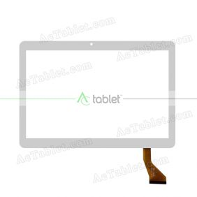 MJK-0758 FPC Digitizer Glass Touch Screen Replacement for 10.1 Inch MID Tablet PC