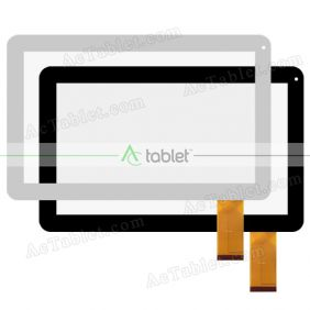 Digitizer Touch Screen Replacement  for Pendo PNDP70M10BLK Quad Core 10.1 Inch Tablet PC