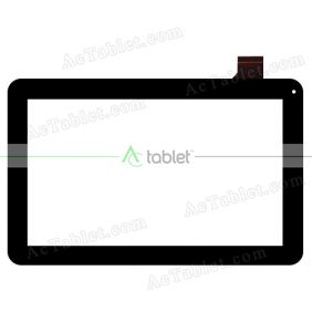 Replacement Touch Screen for Digiland DL1022DP Dual Core 10.1 Inch Tablet PC