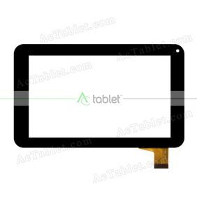 Digitizer Touch Screen Replacement for Neos Flek 7 Inch Quad Core Model NEOT60M7BLK Tablet PC