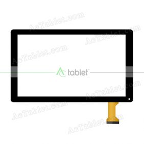 Digitizer Touch Screen Replacement  for Ematic EGQ235SKBL Quad Core 10.1 Inch Tablet PC