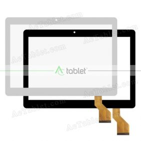 GT10JTY131 V8.0 Digitizer Glass Touch Screen Replacement for 10.1 Inch MID Tablet PC