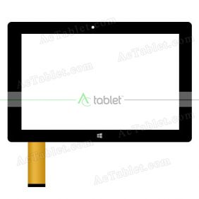 "Digitizer Touch Screen Replacement for Fusion5 10"" Windows Z3735F Quad Core Windows 10.1 Tablet PC"