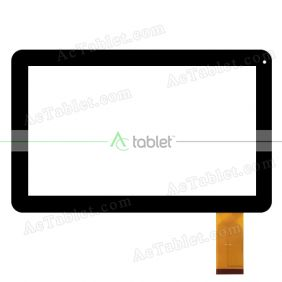 Digitizer Touch Screen Replacement for Linsay F-10XHD Quad Core 10.1 Inch Tablet PC