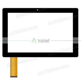 Digitizer Touch Screen Replacement for Packard Bell PB2009 2-in-1 Tablet/Notebook Quad Core 10.1 Inch
