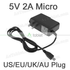 5V Power Supply Charger for Trio Stealth G5 7 Inch Quad Core Tablet PC