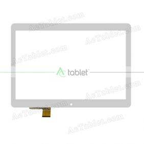 HNFX 10038 Digitizer Glass Touch Screen Replacement for 10.1 Inch MID Tablet PC