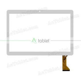 HN-10068-V1.0 FPC Digitizer Glass Touch Screen Replacement for 10.1 Inch MID Tablet PC