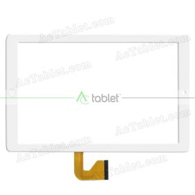 MJK-0911-FPC/2018.06 FLT Digitizer Glass Touch Screen Replacement for 10.1 Inch MID Tablet PC
