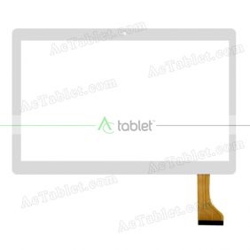 MJK-0719-FPC/2017.03.03 FLT Digitizer Glass Touch Screen Replacement for 10.1 Inch MID Tablet PC