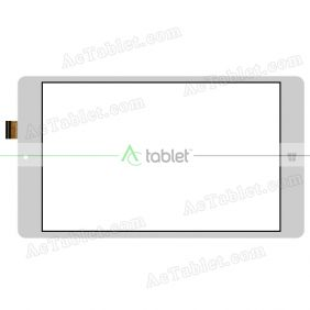 DXG2J2-0876-080B-FPC Digitizer Glass Touch Screen Replacement for 8 Inch MID Tablet PC