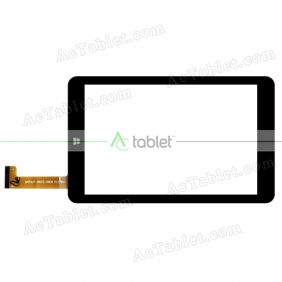 DXP2J1-0633-080A V3.0 Digitizer Glass Touch Screen Replacement for 8 Inch MID Tablet PC