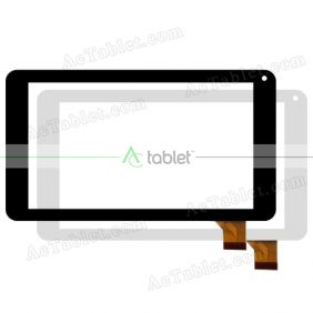 DP070002-F3 Digitizer Glass Touch Screen Replacement for 7 Inch MID Tablet PC