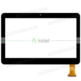 HZYCTP-101552 Digitizer Glass Touch Screen Replacement for 10.1 Inch MID Tablet PC