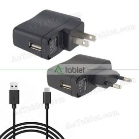 Universal 5V 2A USB Wall Charger Adapter Power Supply + Type-C Cable for Android Tablet PC
