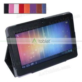 "Leather Case Cover Stand for Chromo Inc 7"" Google Android 4.1 1024x600 7 Inch MID Tablet PC"