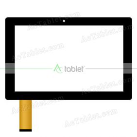Digitizer Touch Screen Replacement for Smartab ST1009 Atom X3 Quad Core 10.1 Inch Windows Tablet PC