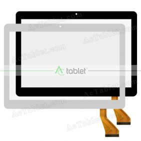 QCY-FPC-101034V02 Digitizer Glass Touch Screen Replacement for 10.1 Inch MID Tablet PC