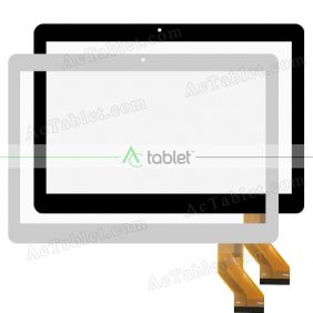 JCCTP-101002 Digitizer Glass Touch Screen Replacement for 10.1 Inch MID Tablet PC