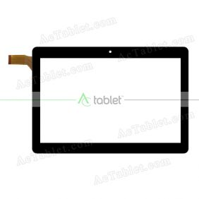 HZYCTP-101821-FPC Digitizer Glass Touch Screen Replacement for 10.1 Inch MID Tablet PC