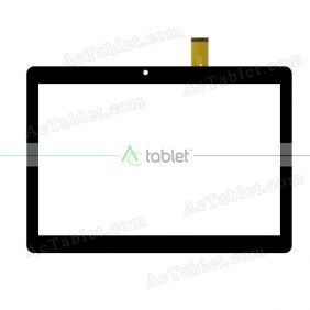 YJ687FPC-V0 Digitizer Glass Touch Screen Replacement for 10.1 Inch MID Tablet PC