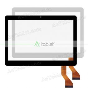 SLR HN 1088-FPC-V1 Digitizer Glass Touch Screen Replacement for 10.1 Inch MID Tablet PC