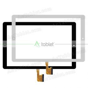 MJK-1289-FPC Digitizer Glass Touch Screen Replacement for 10.1 Inch MID Tablet PC