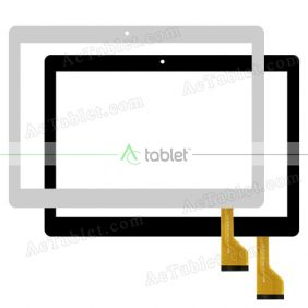 MJK-1102-FPC Digitizer Glass Touch Screen Replacement for 10.1 Inch MID Tablet PC