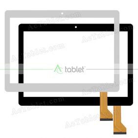 XLD10451-V0 Digitizer Glass Touch Screen Replacement for 10.1 Inch MID Tablet PC